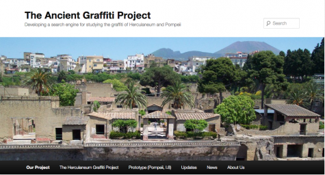 The website allows visitors to search graffiti based on location, property type, drawing type or content