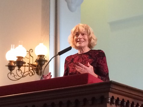 University of Chicago professor of law and ethics Martha Nussbaum lectures on the topics of anger and justice in Lee Chapel.