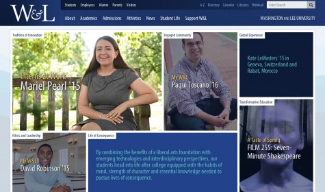 W&L homepage gets refreshed