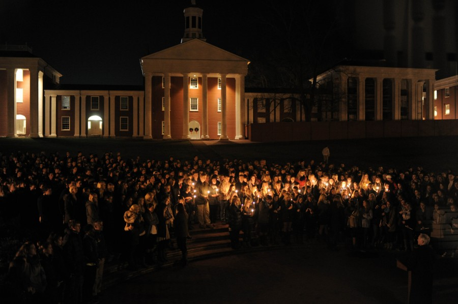 The student body gathered for a memorial in Kelsey's honor on Wednesday night.