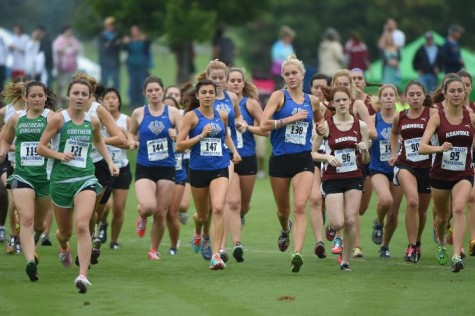 The 2015 Women's XC team has a mix of first-years and seasoned veteran runners. Photo courtesy of W&L Sports Info.
