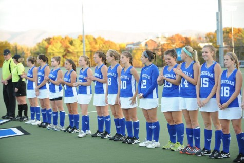 The 2015 Field Hockey team was ranked 4th overall in the ODAC's pre-season poll. Photo courtesy of W&L Sports Info.