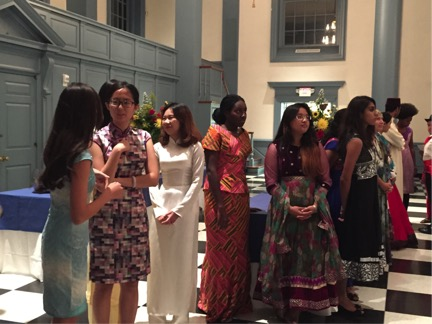 Students of all nationalities participated in the SAIL fashion show. Photo by Savannah Kimble, '18.