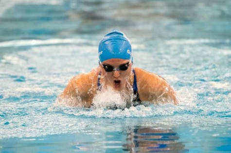Katie Gardner,  '18, won two individual events. Photo courtesy of W&L Sports Information.