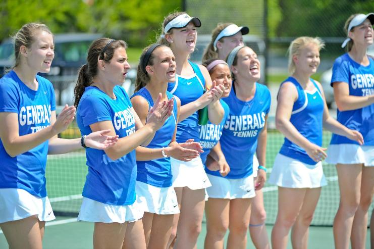 The tennis team said goodbye to five senior players last season, only to welcome five promising first-years to the squad this season. Photo courtesy of W&L Sports Info.