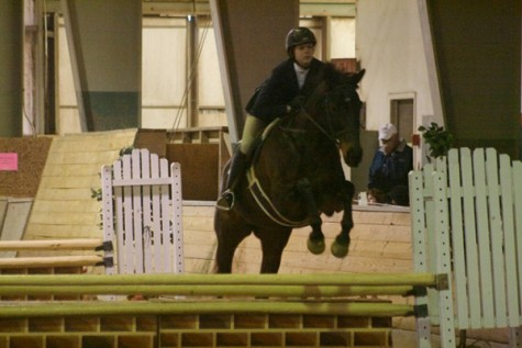Laura Lemon, '16, placed third on the open equestrian flat event. Photo courtesy of W&L Sports Info.