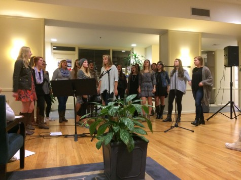 The women of Jubilee perform at Rock Against Rape on Tuesday, Nov. 10.