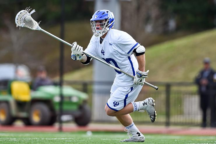 A member of the Generals Men's Lacrosse team  in a game last year. Photo courtesy of W&L Sports Information.