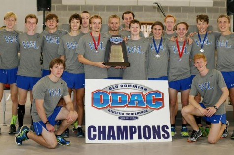 The win marks the ninth time that W&L has won the ODAC Championship. Photo courtesy of W&L Sports Info.