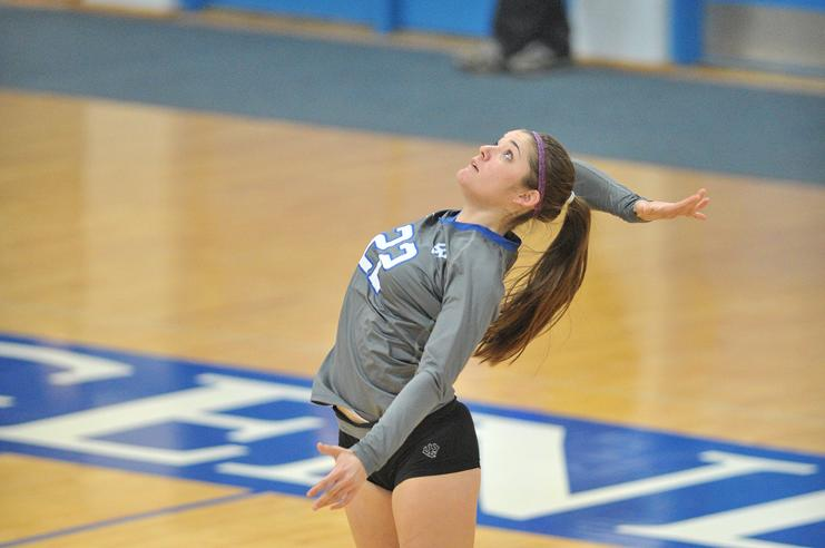 Katie Volk, '18, is one of six underclassmen looking to win a fourth straight ODAC title.  Photo courtesy of W&L Sports Info.