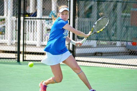 The women's tennis team has placed at least one person on the All-American team every year since 1993. Photo courtesy of W&L Sports Info.