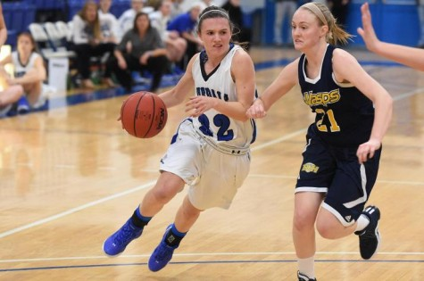 Jackie Clifford, '17, has led the Generals in scoring each of her three years. This year, she is averaging a career high 12.4 points per game.  Photo courtesy of W&L Sports Info.