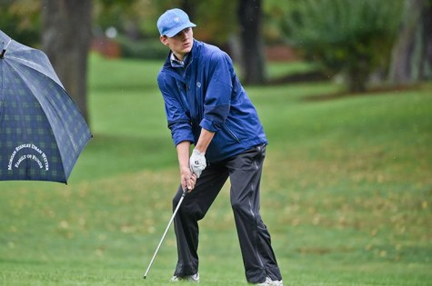 George May, '19, hopes to help drive the golf team to its first conference title in seven years. Photo courtesy of W&L Sports Info.