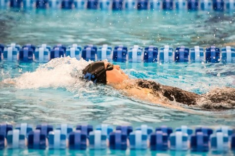 Emily Rollo, '17, set both the school and ODAC record in the 200 backstroke. Photo courtesy of W&L Sports Info.