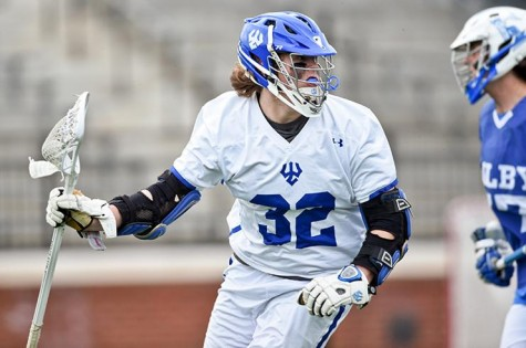 Chris Comerford, '17, has scored multiple goals in each of the team's past two games. Photo courtesy of W&L Sports Info.