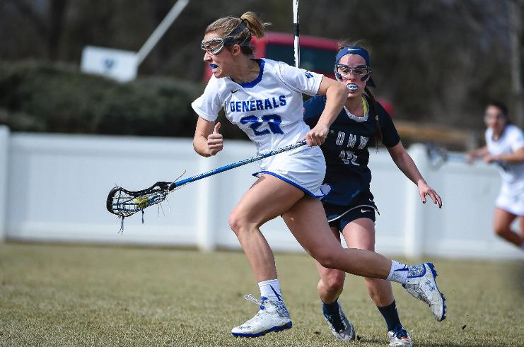 Is Olivia Sisson, '17, the Generals' key to victory? She has scored two goals in each of their wins this season. Photo courtesy of W&L Sports Info.