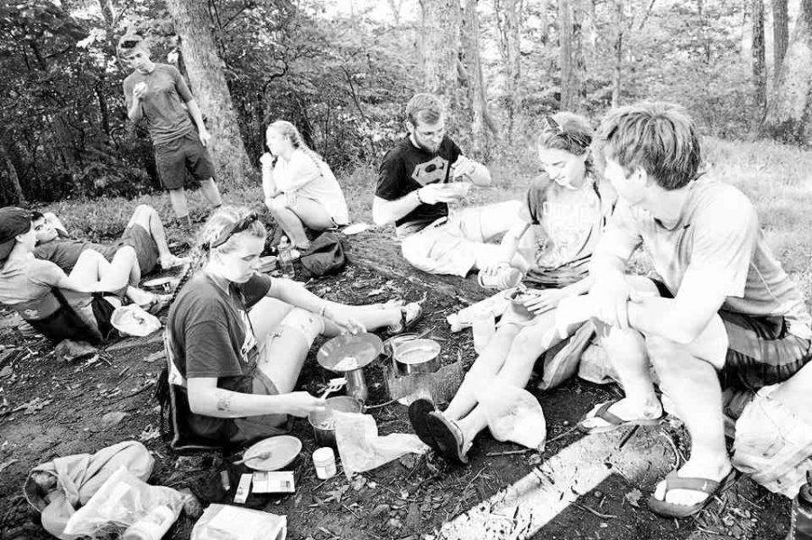 Pre-orientation students on the Appalachian Trail. Photo courtesy of W&L.