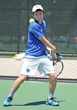With his crafty backhand, Jordan Krasner, '17, is a three-time All- ODAC performer and former conference Player of the Year.