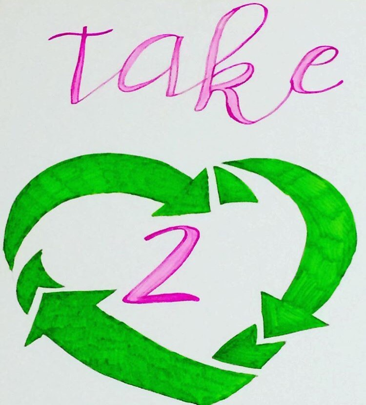 Take 2 logo. Photo courtesy of Julia Kaczmar, '19, and Paige Williams, '19.