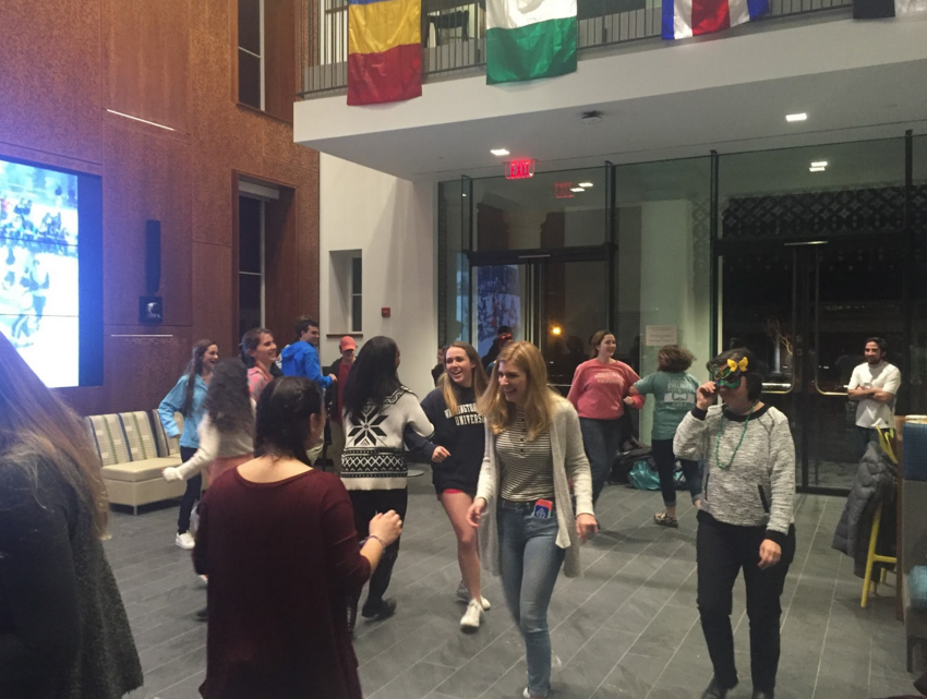 Classes performing traditional Carnival dances. Photo by Elyse Ferris, '20