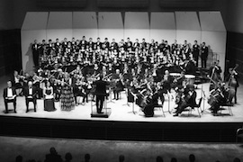 University Orchestra, three choral groups perform joint concert