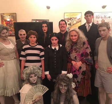 Cast members backstage. Photo courtesy of Mike Bracy, '20