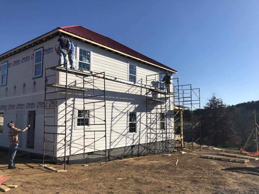 Windfall reconstruction efforts are underway. Photo courtesy of William Szczecinski