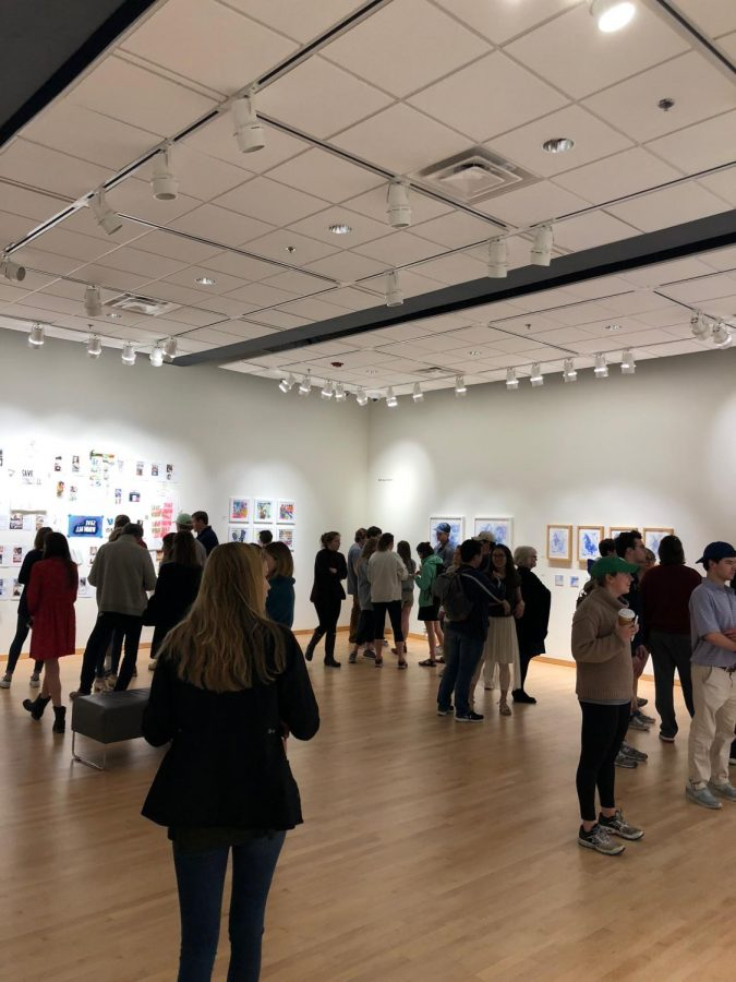 Art theses exhibit displays diversity of seniors' creativity