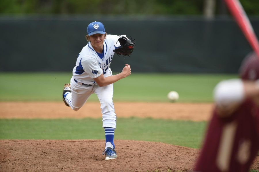 Tyler Murphy, '18, has 55 career strikeouts and has pitched over 100 innings. Photo courtesy of W&L Sports Info