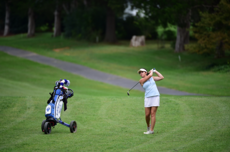 Liza Freed, '18, entered the season with a 77.6 career average. Photo courtesy of W&L Sports Info