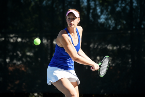 Women's tennis undefeated in conference