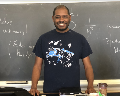 Professor Cory Colbert teaches Calculus I and II in Washington and Lee's math department. Photo by Caroline Baber, '22.