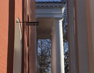 The building on the Colonnade formerly known as Robinson Hall is now named Chavis Hall, in recognition of John Chavis, the first African-American to receive a college degree in the U.S. Photo by Laura Calhoun, 20.