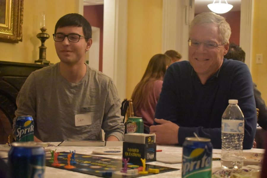 President Dudley hosts student game night