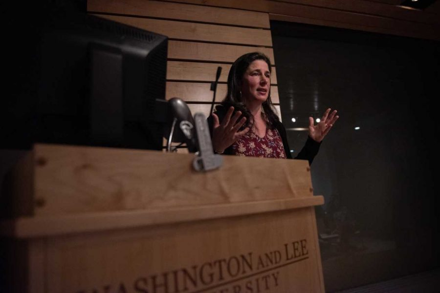 Traister delivered remarks on the power of women's anger and the changing landscape of politics as a result. Photo by Maya Lora.