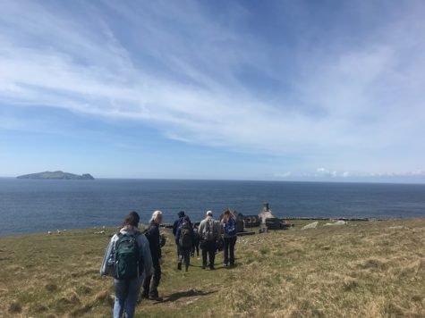Students in ENGL/REL-387 hike in Ireland. Photo courtesy of Mary North Jones, '21.