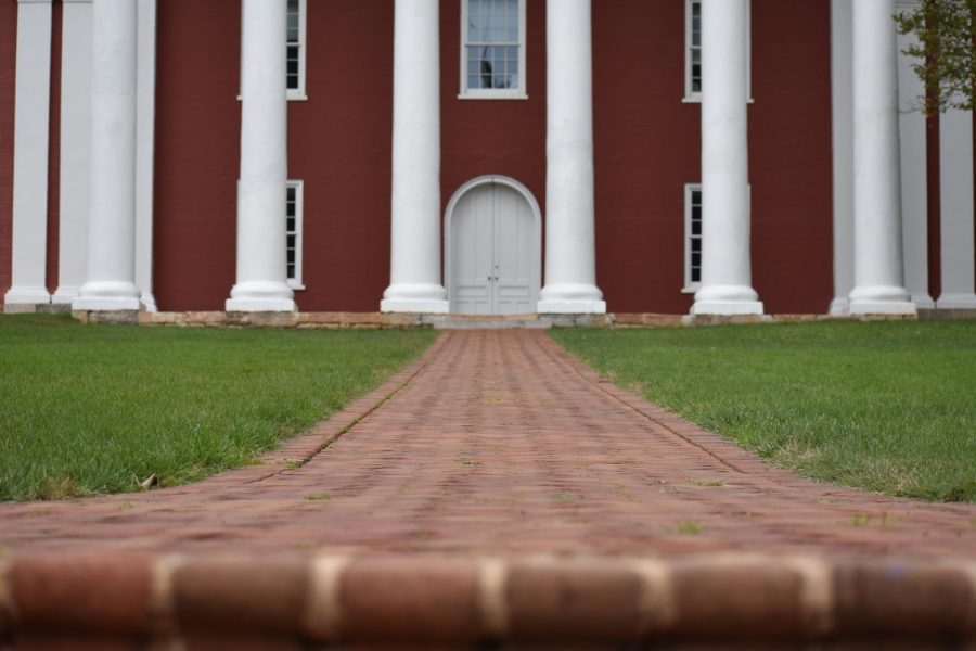 Washington Hall, from the steps of Lee Chapel. Photo by Hannah Denham.