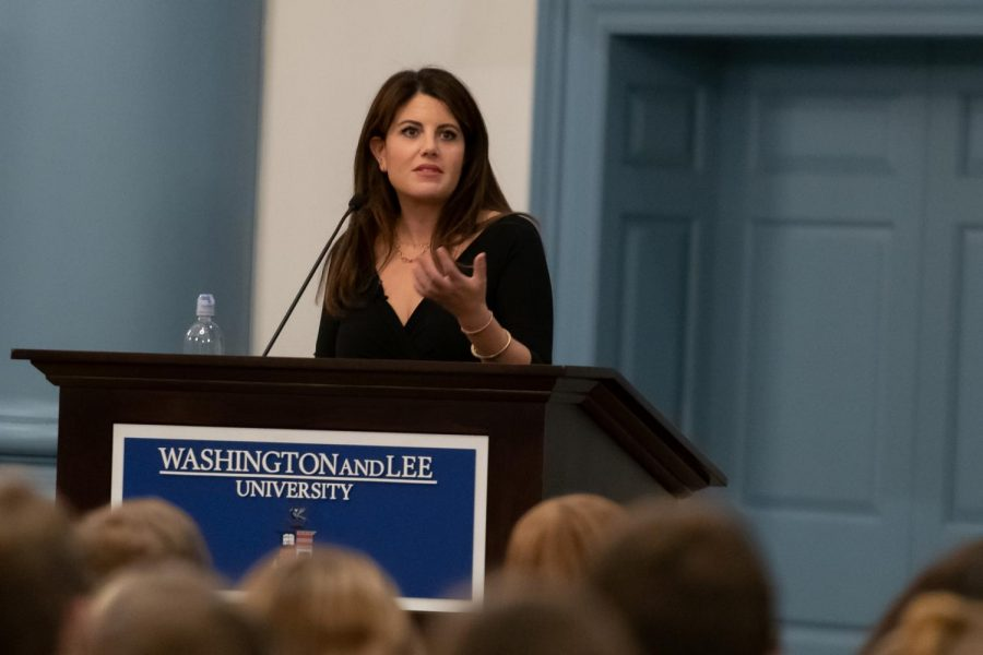 Lewinsky spoke on survival, resilience, digital reputation and equality, according to the event's advertisement. Photo by Kevin Remington.
