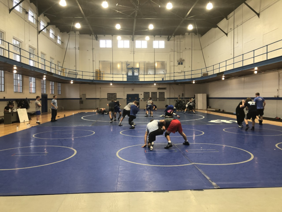 The Washington and Lee wrestling team has started practice. Photo by Riley Parker, '23.