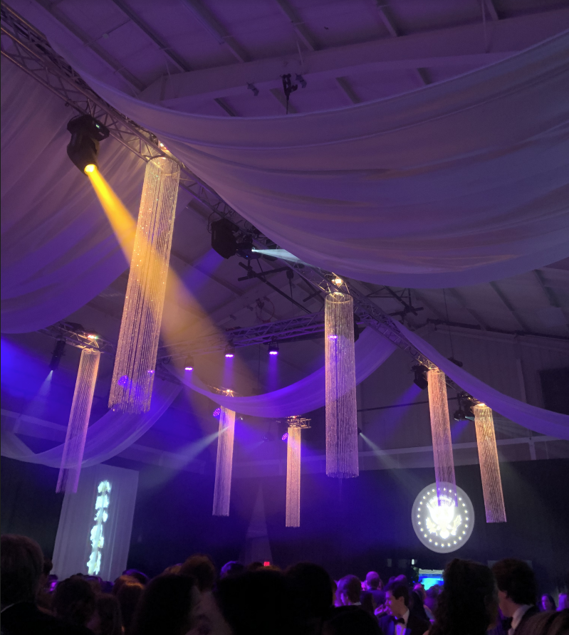 The Mock Convention Presidential Gala took place in the Student Activities Pavilion. Photo by Emma Derr.