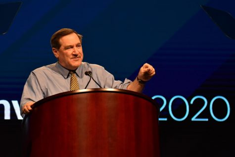 Former Indiana Sen. Joe Donnelly (D). Photo by Lilah Kimble.