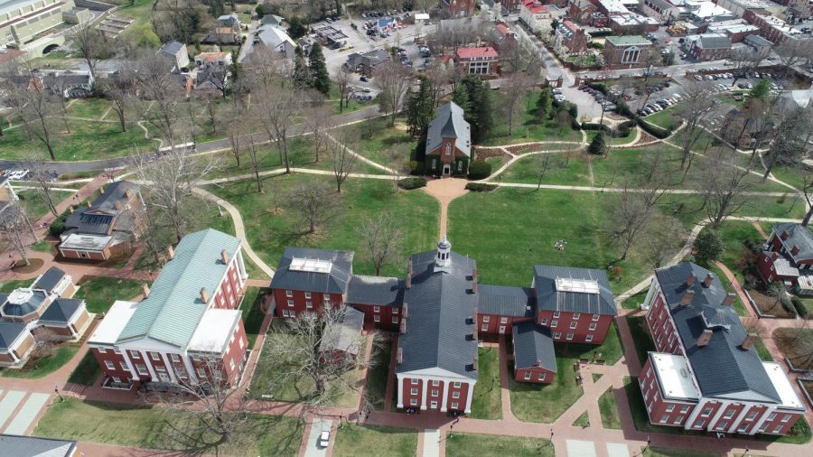 An aerial view of Washington and Lee University. Photo by Coleman Martinson.