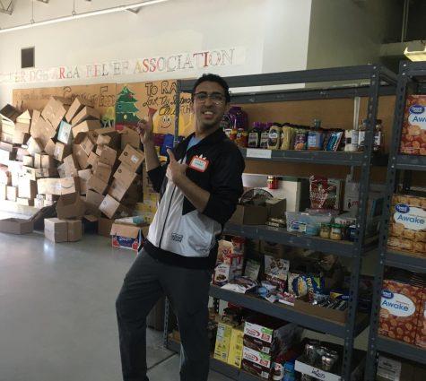 Rafay Hassan, '22, volunteers with Rockbridge Area Relief Association.  Photo by Hannah Denham.