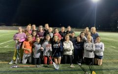 The women's club lacrosse team at their first practice. Photo courtesy of Mary Wilson Grist.
