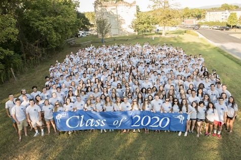 The Class of 2020, during their first-year orientation week in August 2016.  Photo by Kevin Remington.