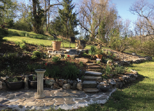 Patricia Hobbs is transforming different areas of her yard in her free time. Photo courtesy of Hobbs.