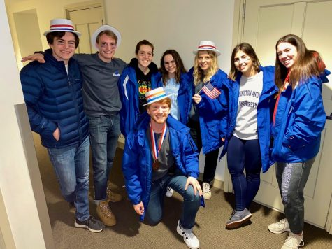 Traveller employees before a shift during Mock Convention weekend. Photo courtesy of Lauren Fredericks.