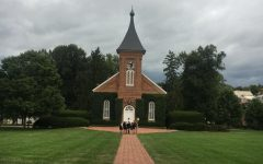 Lee Chapel, a central landmark on campus, will be renamed University Chapel. Photo by Grace Mamon, '22.