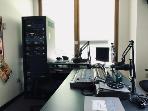 The WLUR studio is on the bottom floor of Elrod Commons.