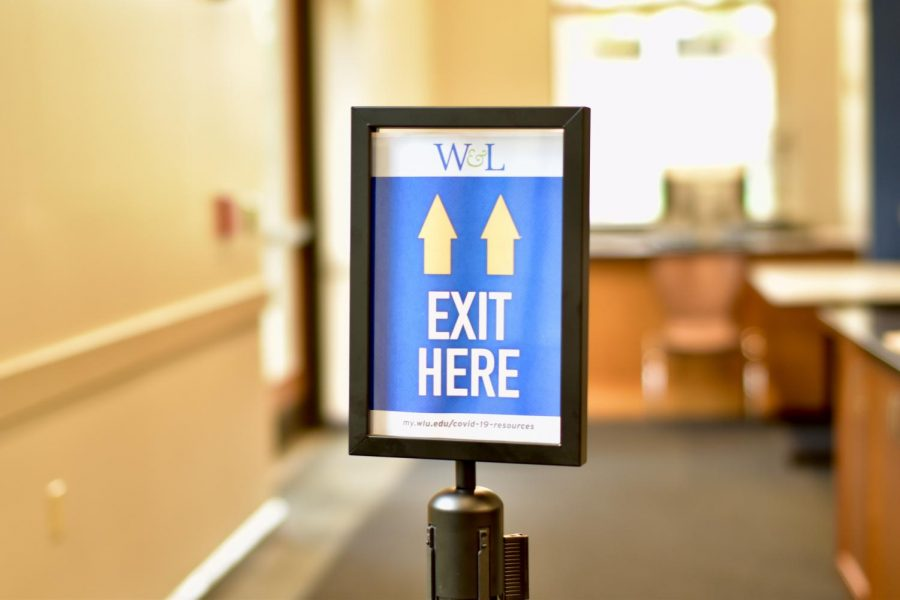 The marketplace has a designated entrance and exit. Last year, students could enter and exit through any door.